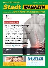 Stadt-Magazin Eitorf, Windeck, Ruppichteroth - Januar 2019