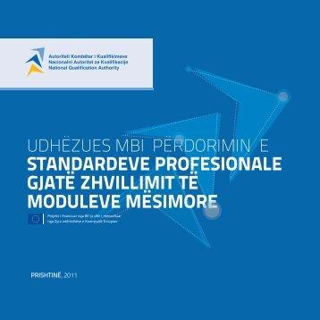 Udhëzues mbi përdorimin e standardeve profesionale gjatë ... - AKK