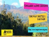 Tongariro Alpine Crossing One Way Shuttle