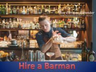 Hire a Barman for Your Party Entertainment
