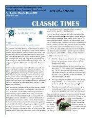 Classic Times Newsletter 1st Quarter 2019