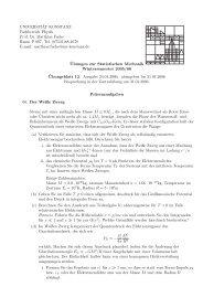 UNIVERSIT¨AT KONSTANZ Fachbereich Physik Prof. Dr. Matthias ...