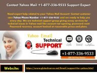 Conatct Yahoo Mail +1-877-336-9533 Support Expert