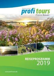 profi tours Reiseprogramm 2020