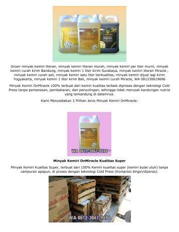 WA 08130619696, Produsen Minyak Kemiri Curah Super, Harga Minyak Kemiri Per Liter Murni