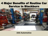 4 Major Benefits of Routine Car Service in Blackburn