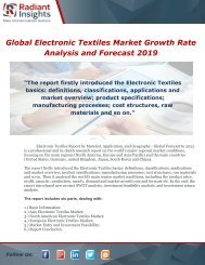 Global Electronic Textiles Market Growth Rate Analysis and Forecast 2019