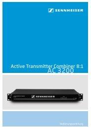 AC 3200 Active Transmitter Combiner 8:1 - Sennheiser UK
