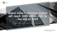 Global Valve Positioners market will reach 1690 million US$ by the end of 2025
