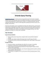 Orlando Epoxy Flooring Top Epoxy Flooring Solutions in Orlando