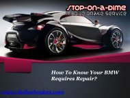 How To Know Your BMW Requires Repair