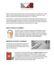 Epoxy Flooring Salt Lake City Best Epoxy Flooring Installation