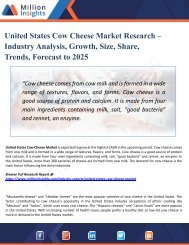United States Cow Cheese Market Analysis, Growth, Share, Industry Trends, Supply Demand, Forecast and Sales to 2025