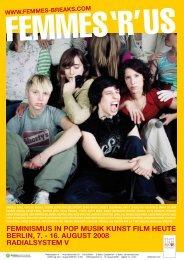 feminismus in pop musik kunst film heute berlin, 7. - Femmes With ...