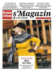s'Magazin usm Ländle, 27. Jänner 2019