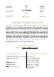 Law Office of Peter Briskin, P.C. New York / New Jersey - Injury Lawyer