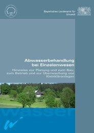 Abwasserbehandlung bei Einzelanwesen - Landkreis Miltenberg