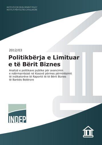Politikbërja e Limituar e të Bërit Biznes - indep
