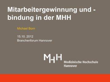 Mitarbeitergewinnung und - bindung in der MHH - hannoverimpuls