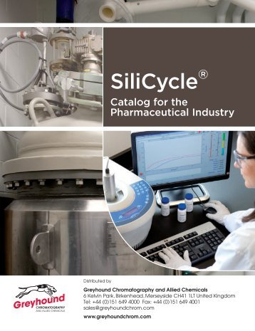 SiliCycle Catalogue Pharmaceutical Industry