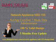 Network Appliance NS0-155 Dumps