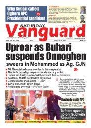 26012019 - Nation on edge as Buhari suspends Onnoghen as CJN