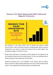 Enhance Your Sales Opportunities With Testimonial Magento 2 Extension