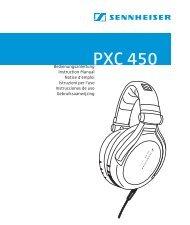El auricular PXC 450  - Sennheiser Communications
