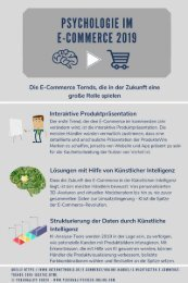 PSYCHOLOGIE IM E-COMMERCE 2019 neu