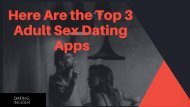 Know The 3 Top Most Adult Dating Sites At Dating Insider