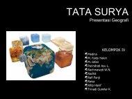 TATA SURYA Presentasi Geografi - Taruna Bakti