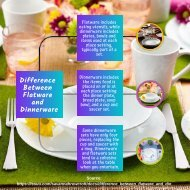 Difference Between Flatware and Dinnerware