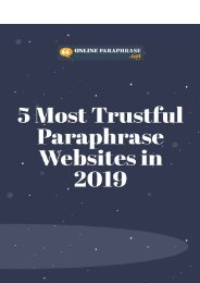 5 Most Trustful Paraphrase Websites in 2019
