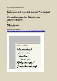 deutsch-englisch Fachsprache Pflege