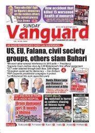 27012019 - US EU Falana, civil society groups, others slam Buhari
