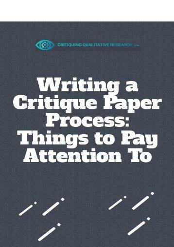 critiquing qualitative research