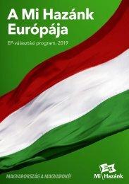 A Mi Hazánk Európája – EP-választási program