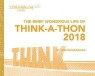 Think-A-Thon 2018 (Portfolio: Nonprofit Event Branding)