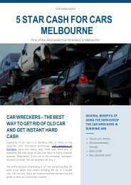 Car Wreckers – The Best Way to Get Rid Of Old Car and Get Instant Hard Cash