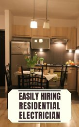 Easily Hiring Residential Electrician