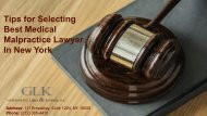Tips for Selecting Best Medical Malpractice Lawyer In New York