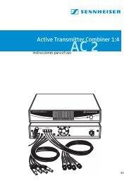 Active Transmitter Combiner 1:4 AC 2 - Sennheiser UK