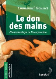 Le don des mains. Phénoménologie de l'incorporation