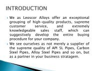 Exporters of Stainless Steel, Carbon Steel and High Nickel Alloys Pipes