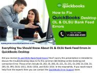 Few Tips to Fix Bank Feeds Issues Including OL and OLSU Errors