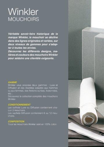 Leaflet Winkler Mouchoirs Printemps-Été 2019