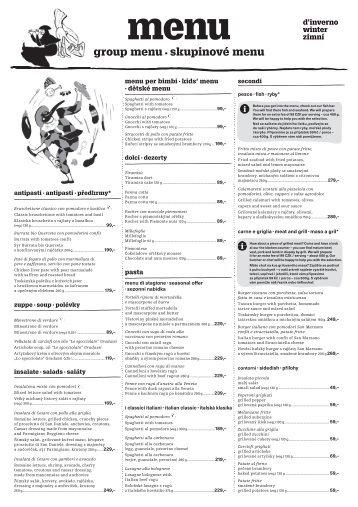 Skupinové menu, zima 2019