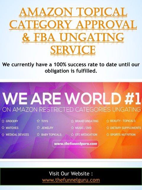 amazon fba restricted categories