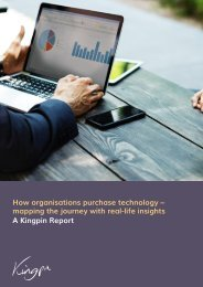 How organisations purchase technology – mapping the journey with real-life insights