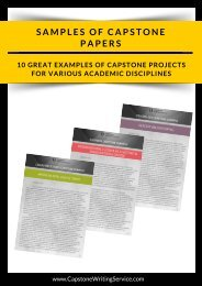 10 GREAT EXAMPLES OF CAPSTONE PROJECTS FOR VARIOUS ACADEMIC DISCIPLINES